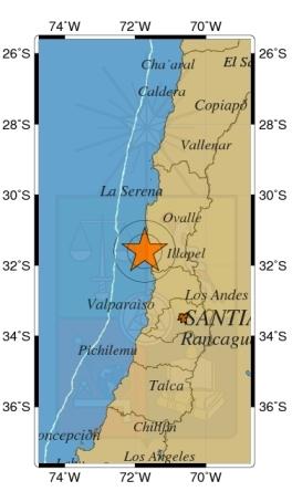 Terremoto afecta la zona central del país