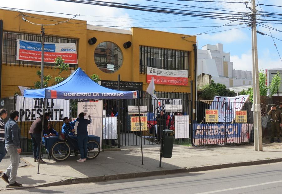 Informan sobre medidas para enfrentar Paro del Registro Civil en Talca