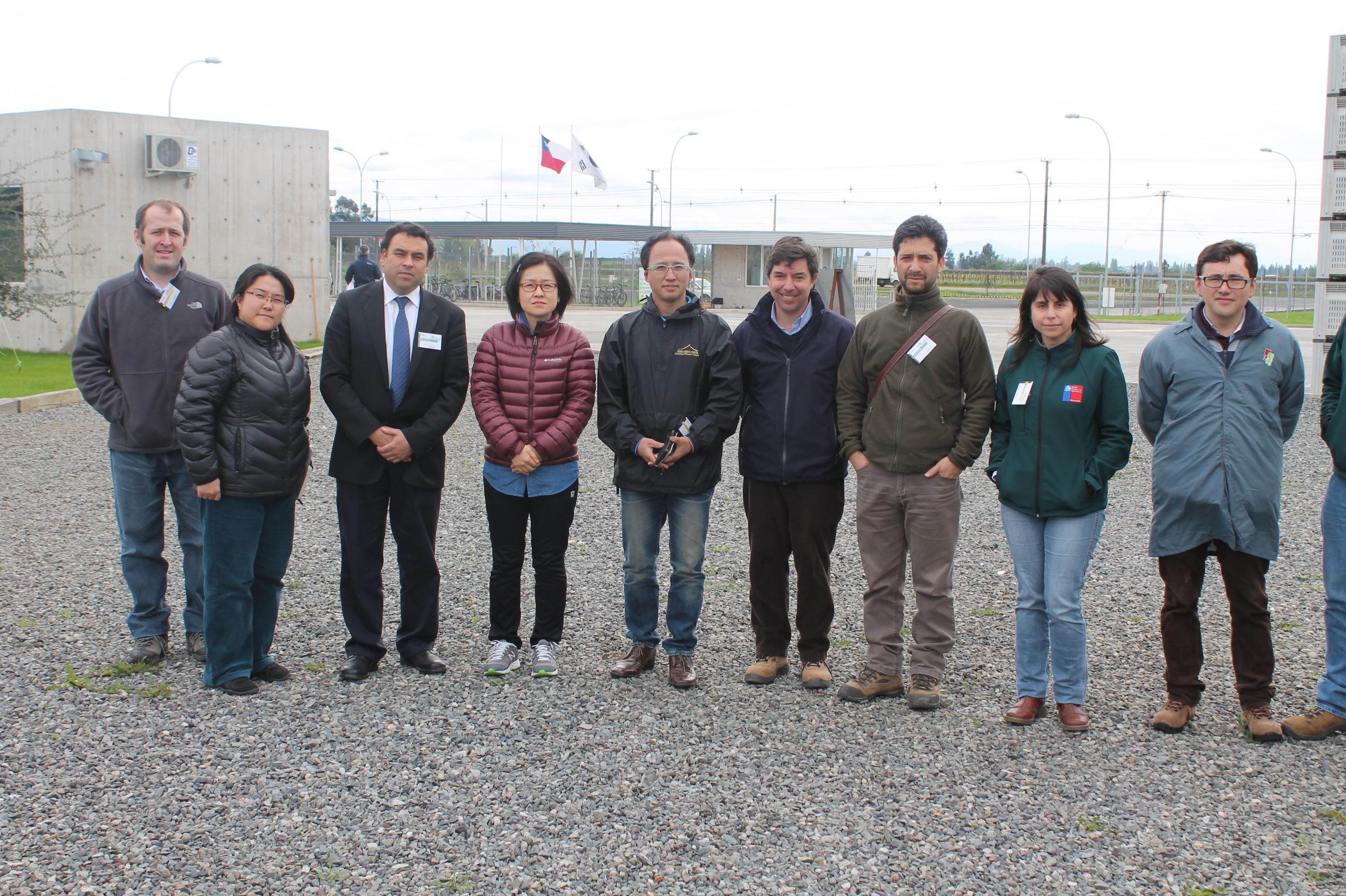 Inspectores coreanos visitan Chile con miras a abrir el mercado para las cerezas