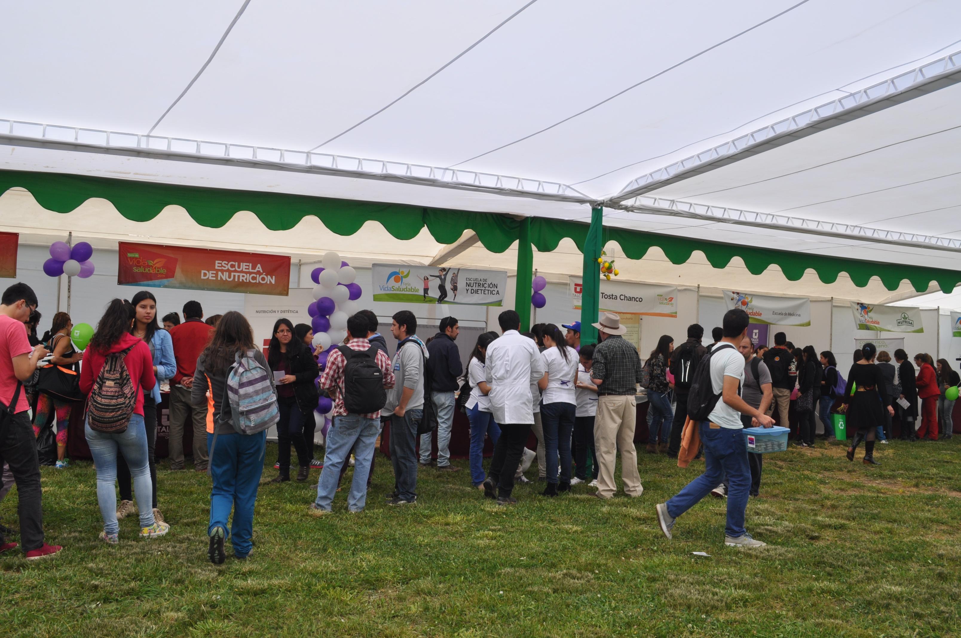 Universidad de Talca inaugura Feria de Vida Saludable 2015