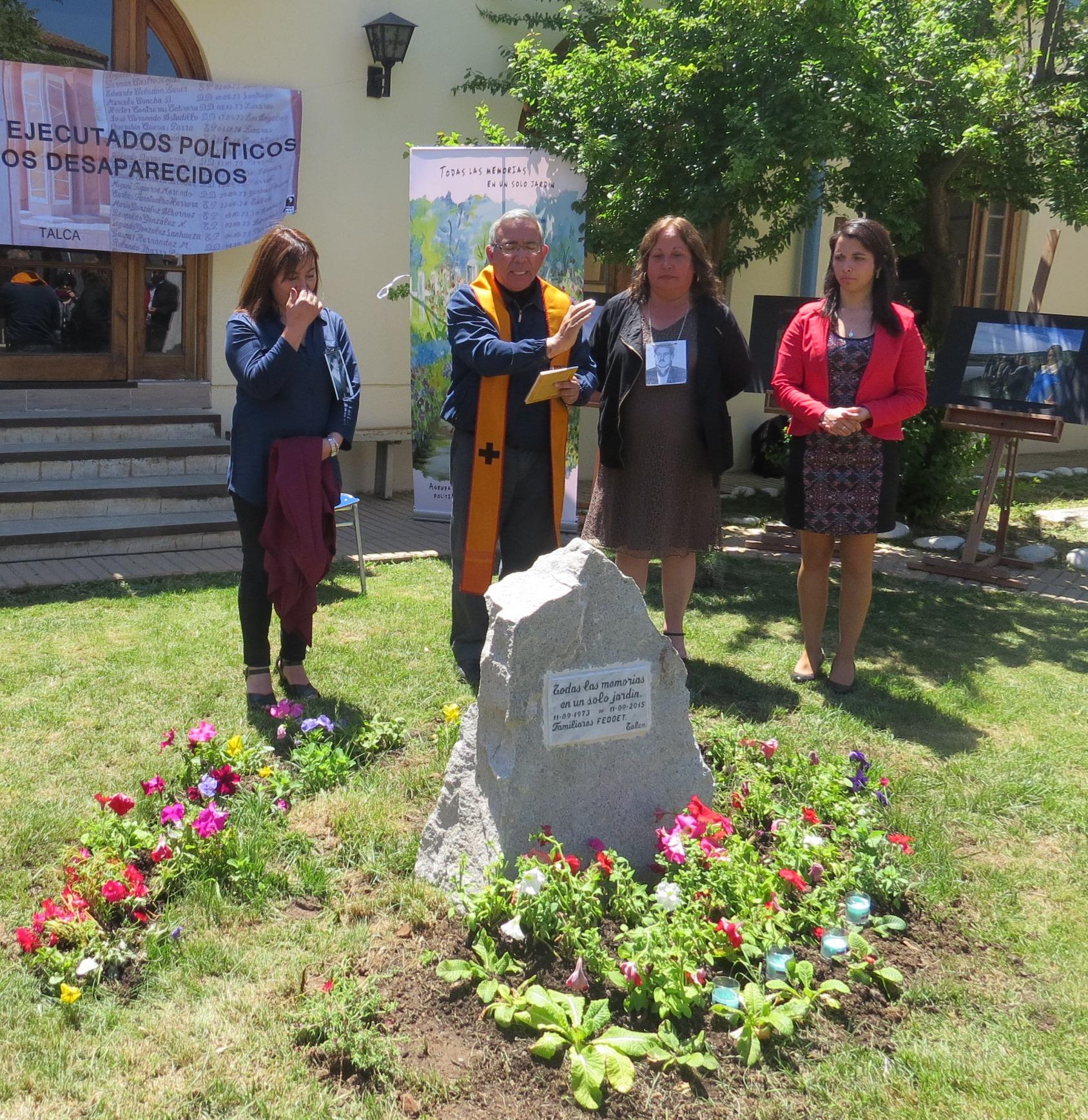 Sename y Agrupación de Ejecutados y Desaparecidos inauguran jardín en centro de justicia juvenil de Talca