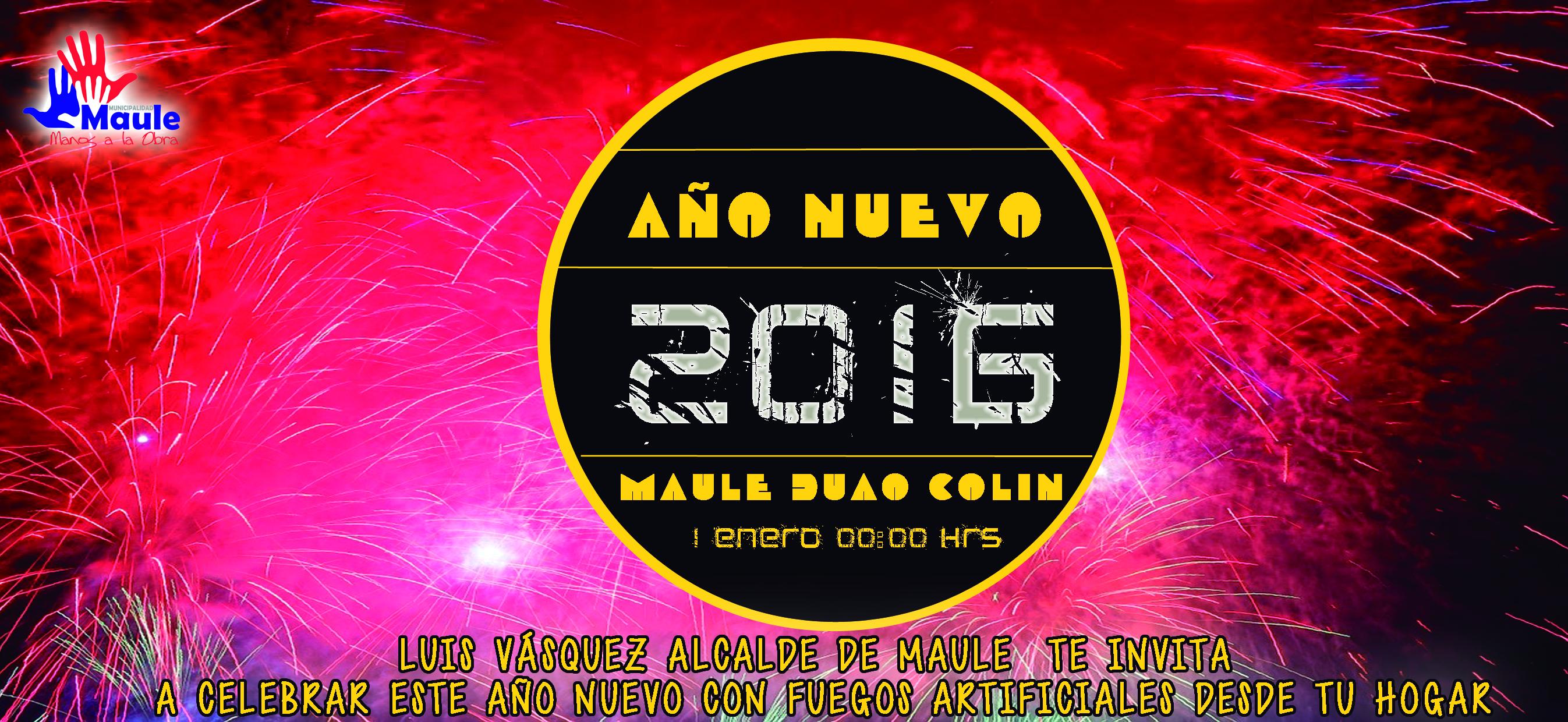Maule recibirá 2016 con 3 show pirotécnicos