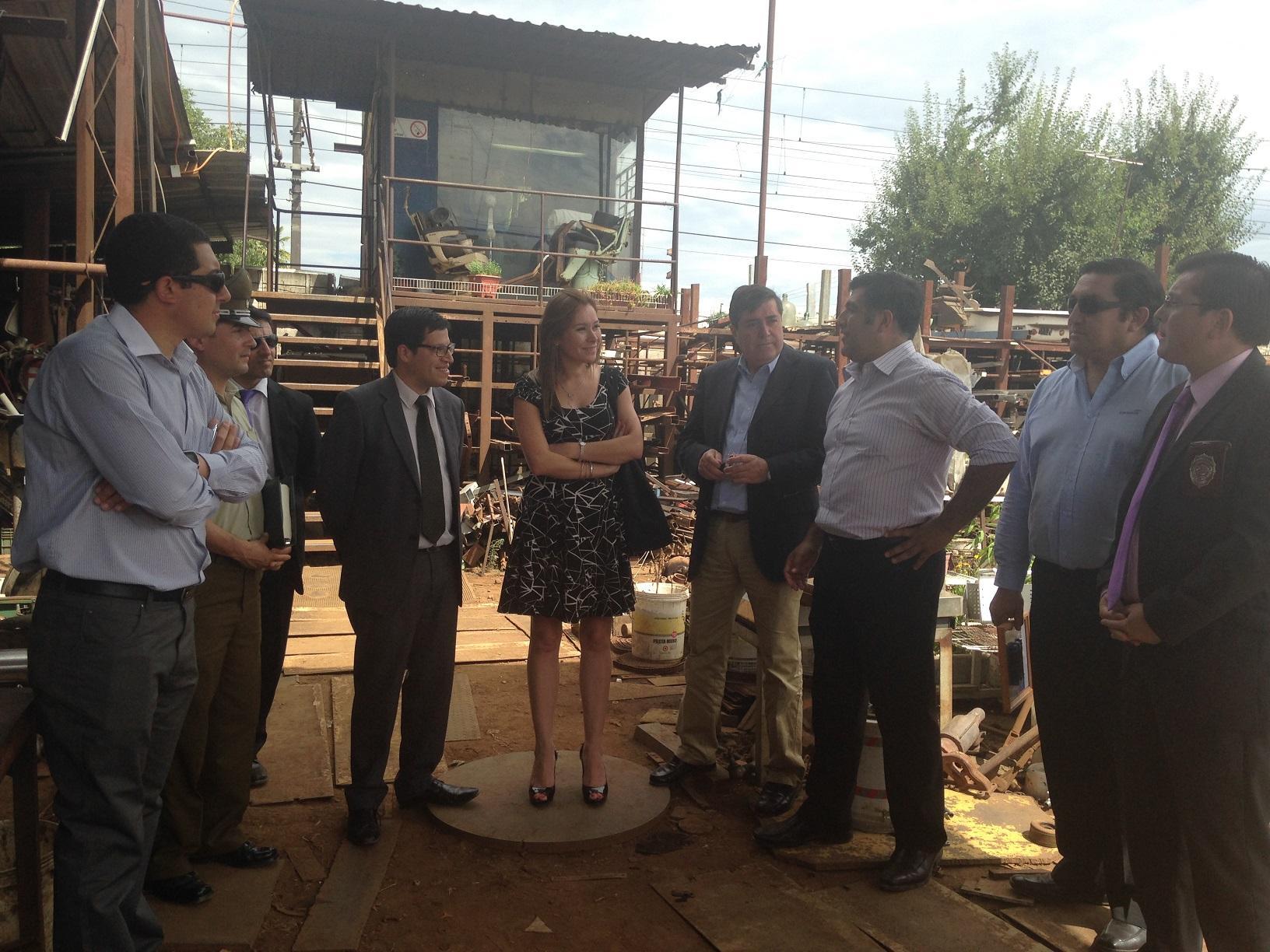 Mesa de Prevención del Robo de Cables fiscaliza chatarrería en Linares para prevenir el comercio de este producto