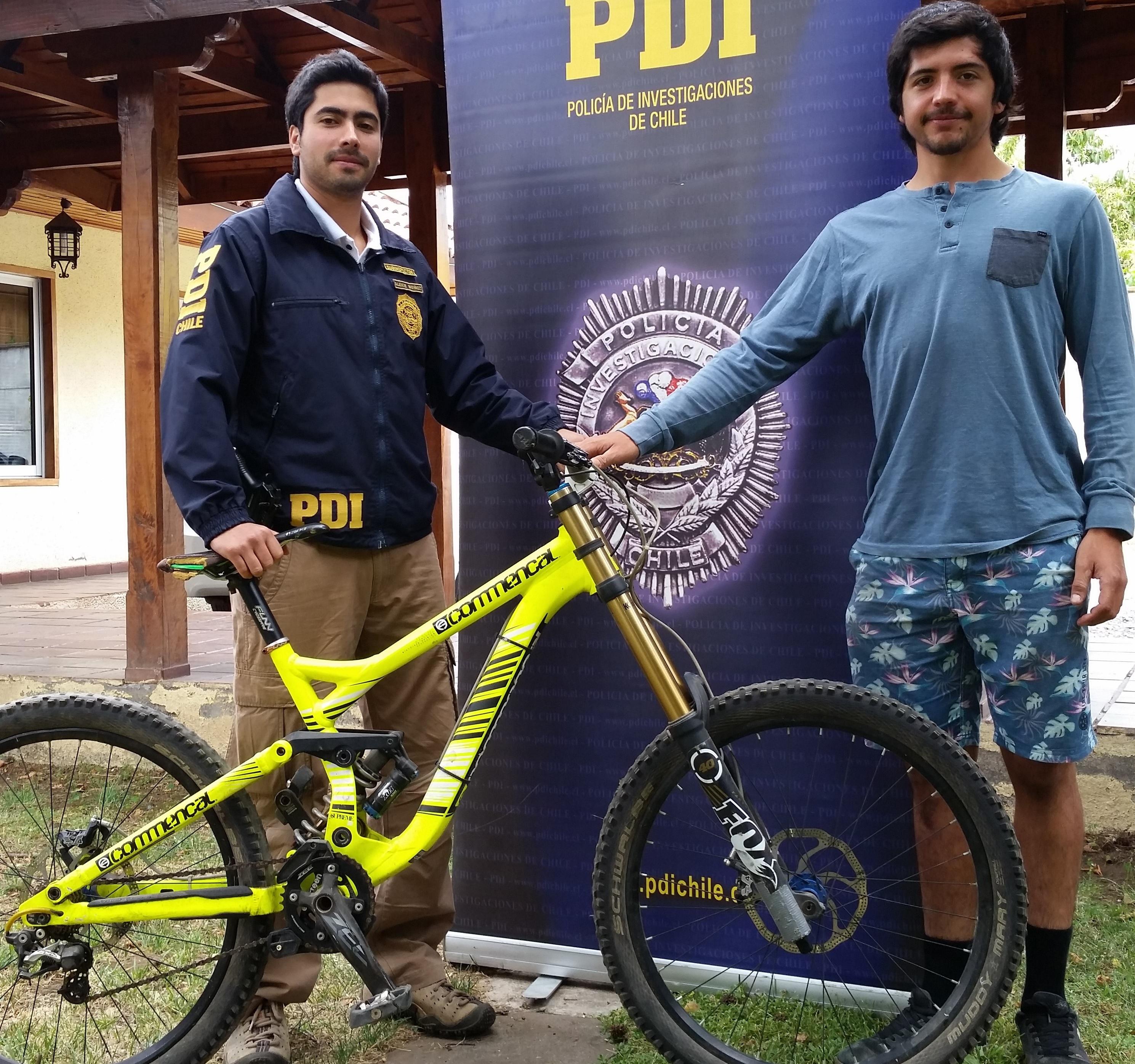 PDI recuperó bicicleta de competición avaluada en más de 4 millones de pesos
