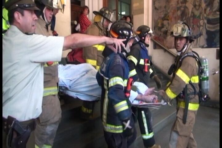 Hospital emite comunicado por hombre que se quemó a lo Bonzo en Talca