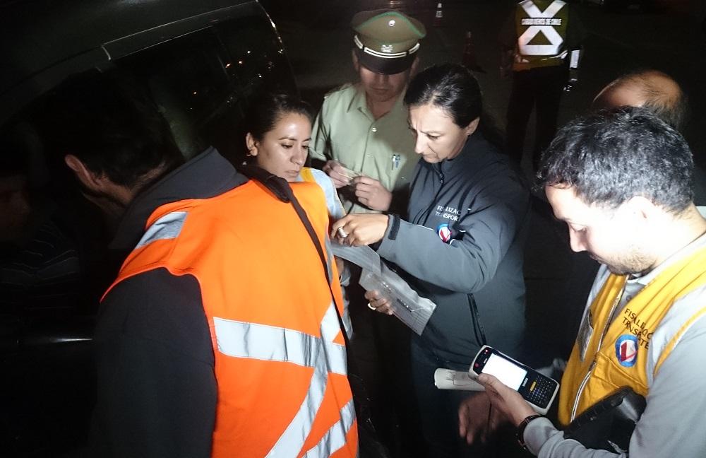 Sorpresiva fiscalización al transporte de trabajadores temporeros se desarrolló en Talca