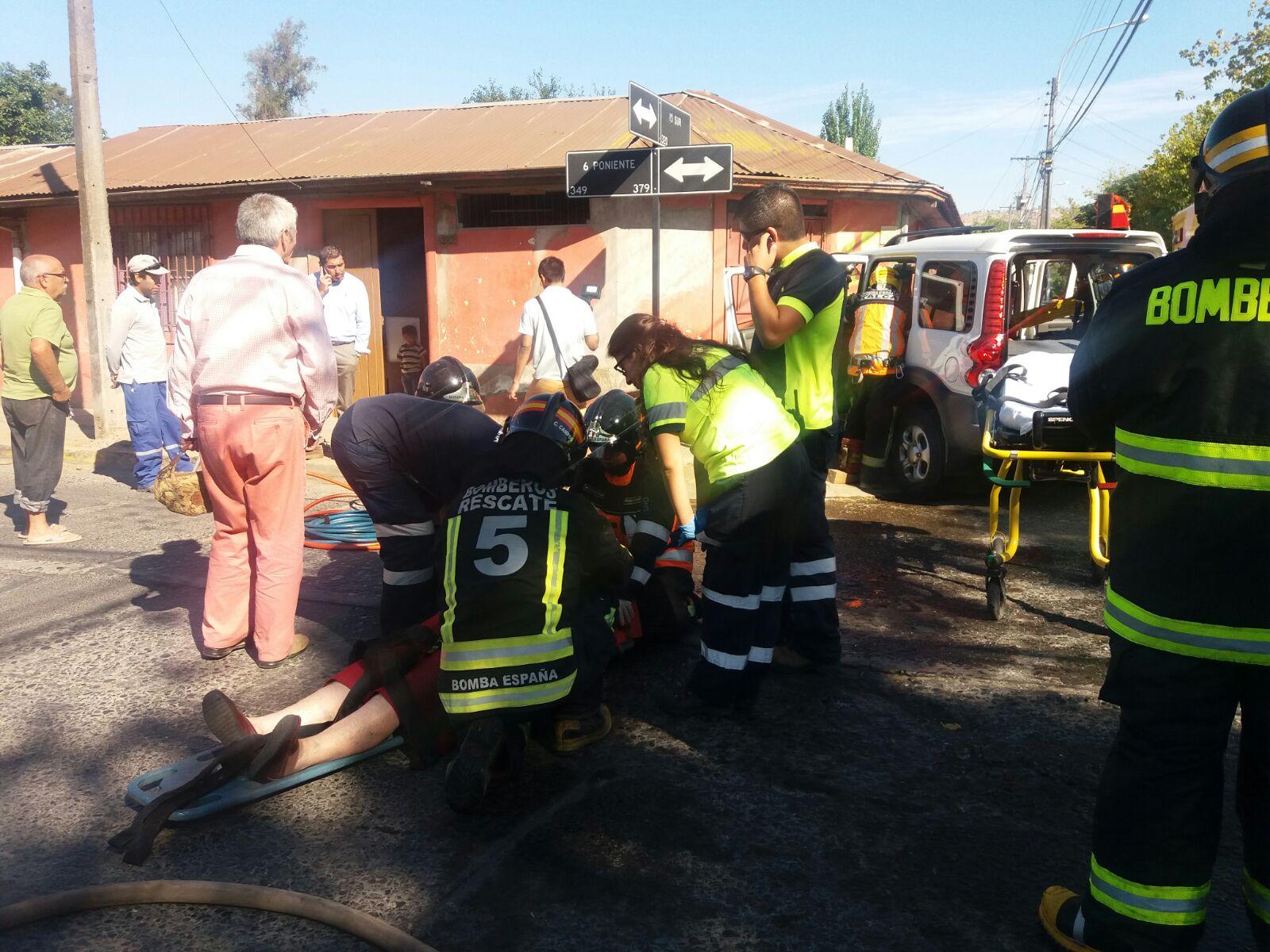 Fotos: Violenta colisión de camión de gas con jeep deja dos heridos en Talca