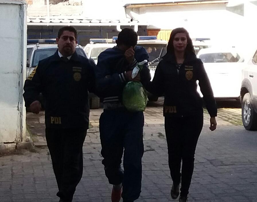 La PDI detiene a hombre con orden de aprehensión pendiente acusado de agredír constantemente a su pareja en vivienda Talca