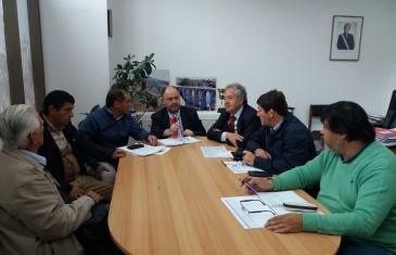 Autoridades y vecinos se reúnen por camino de la comuna de Parral