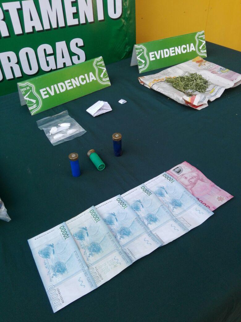 Con cocaína y marihuana cae clan familiar detenida por el OS-7 de Carabineros en Talca
