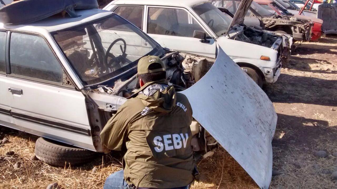 Carabineros del SEBV realizan fiscalizaciones en talleres y desarmadurías de la Región del Maule