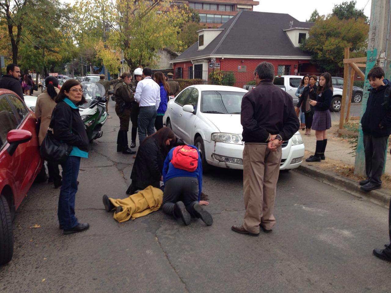 Menor escolar resulta herida tras ser atropellada por vehículo en el centro de Talca