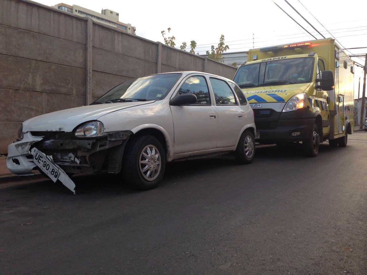 Dos lesionados deja accidente de tránsito en el centro de Talca