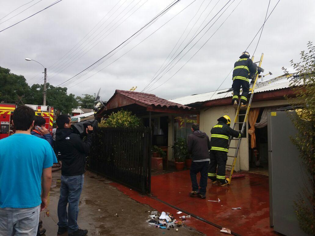 Llamado de incendio en sector oriente de Talca, moviliza a tres compañías del cuerpo de bomberos de la ciudad..