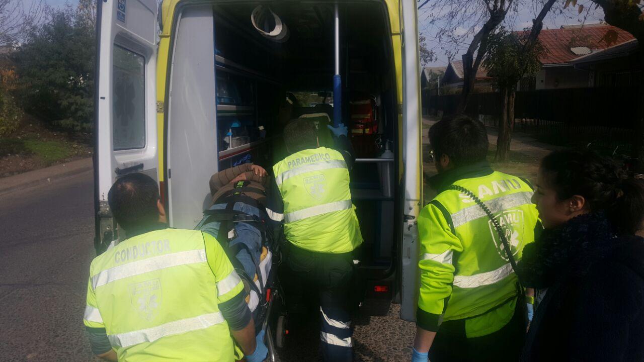 Motorista herido en accidente en barrio norte de Talca