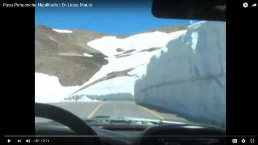 [Video] Expedito se encuentra el paso internacional el pehuenche.