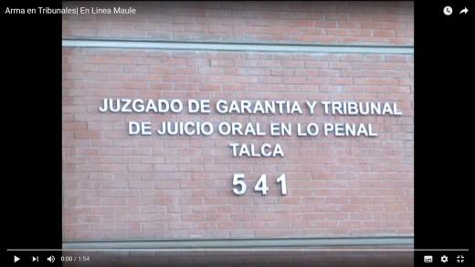[Video] Tensión en tribunal de garantía de Talca, luego que un hombre ingresara con un arma de fuego.