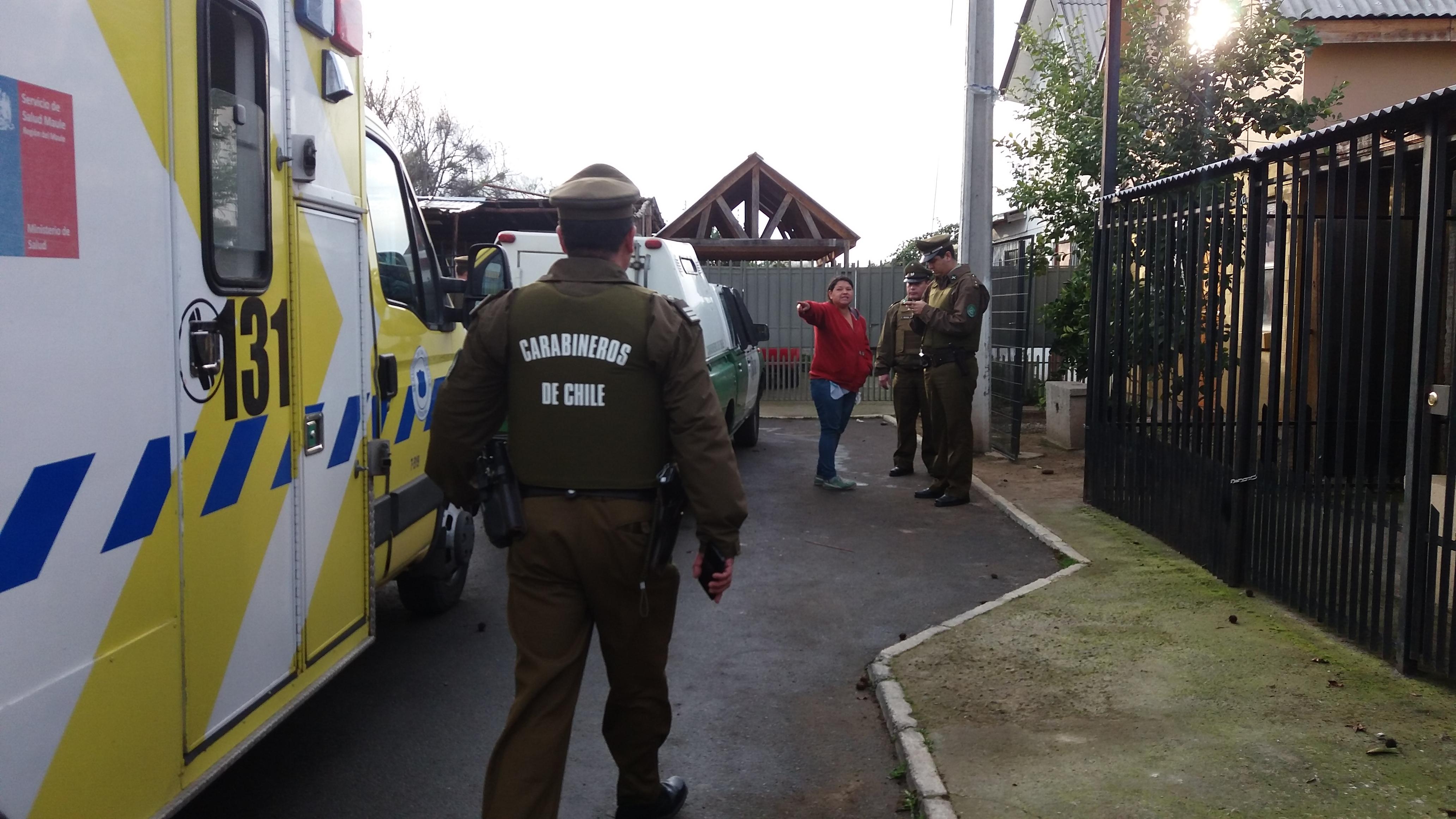 Balacera infernal termina con tres heridos en población Carlos González Cruchaga de Maule