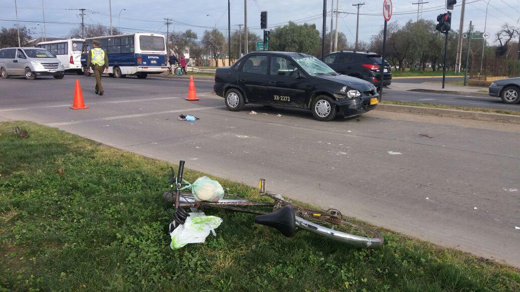 Trágica muerte de ciclista en caletera con 8 sur en Talca