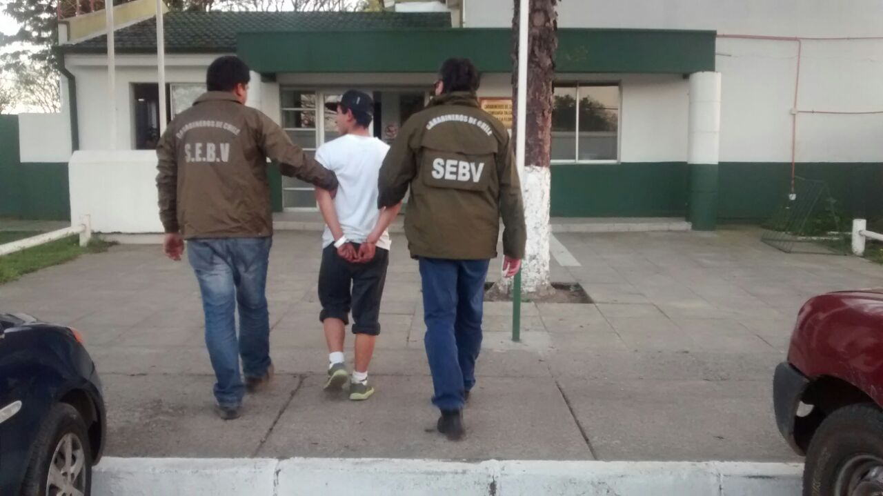Carabineros del SEBV detiene en Maule a peligroso antisocial, implicado en una serie de graves delitos