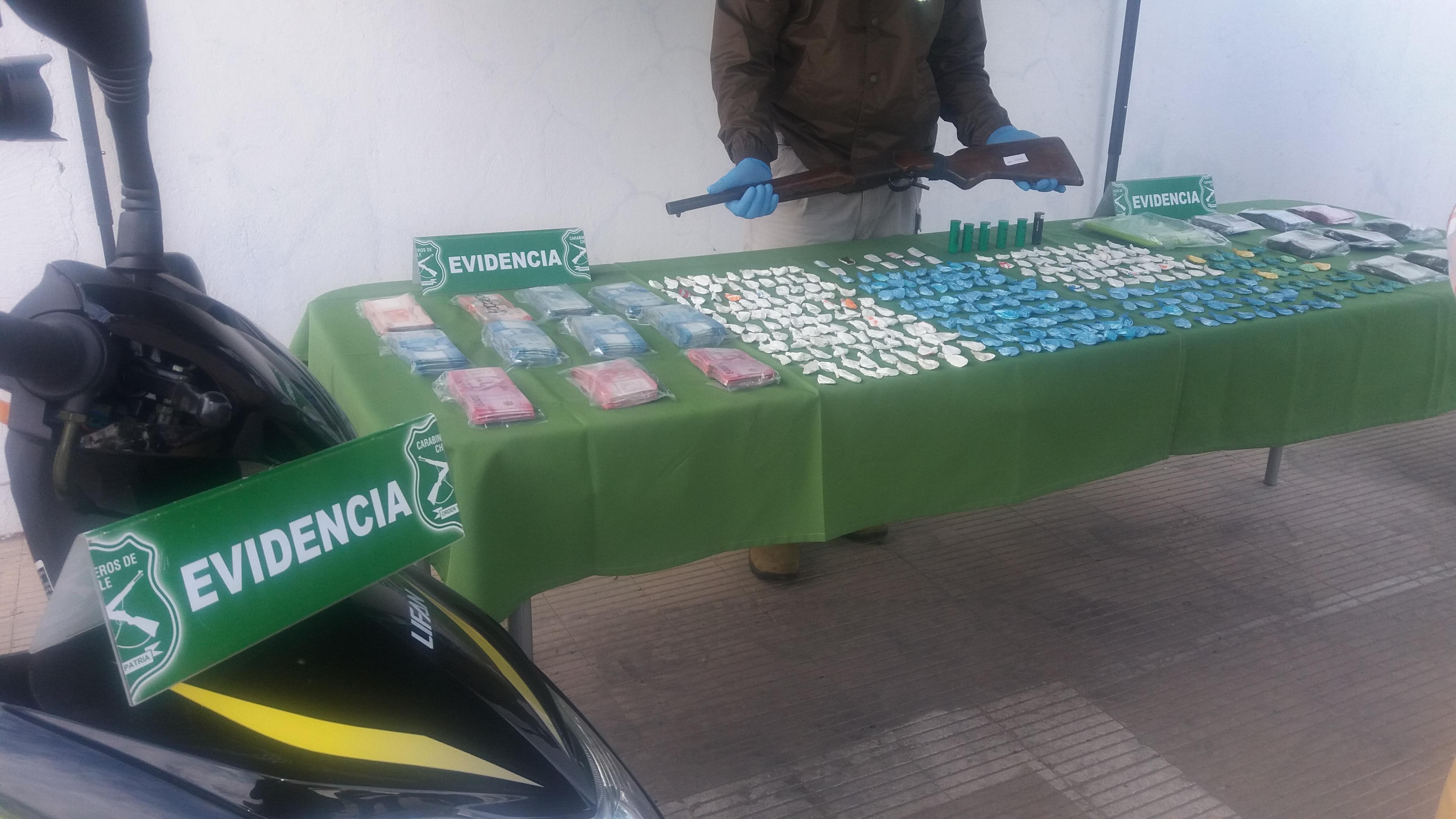 Con 4 detenidos y la incautación millonaria drogas, finalizó operativo del OS-7 de carabineros de Talca, en población san Miguel del Piduco