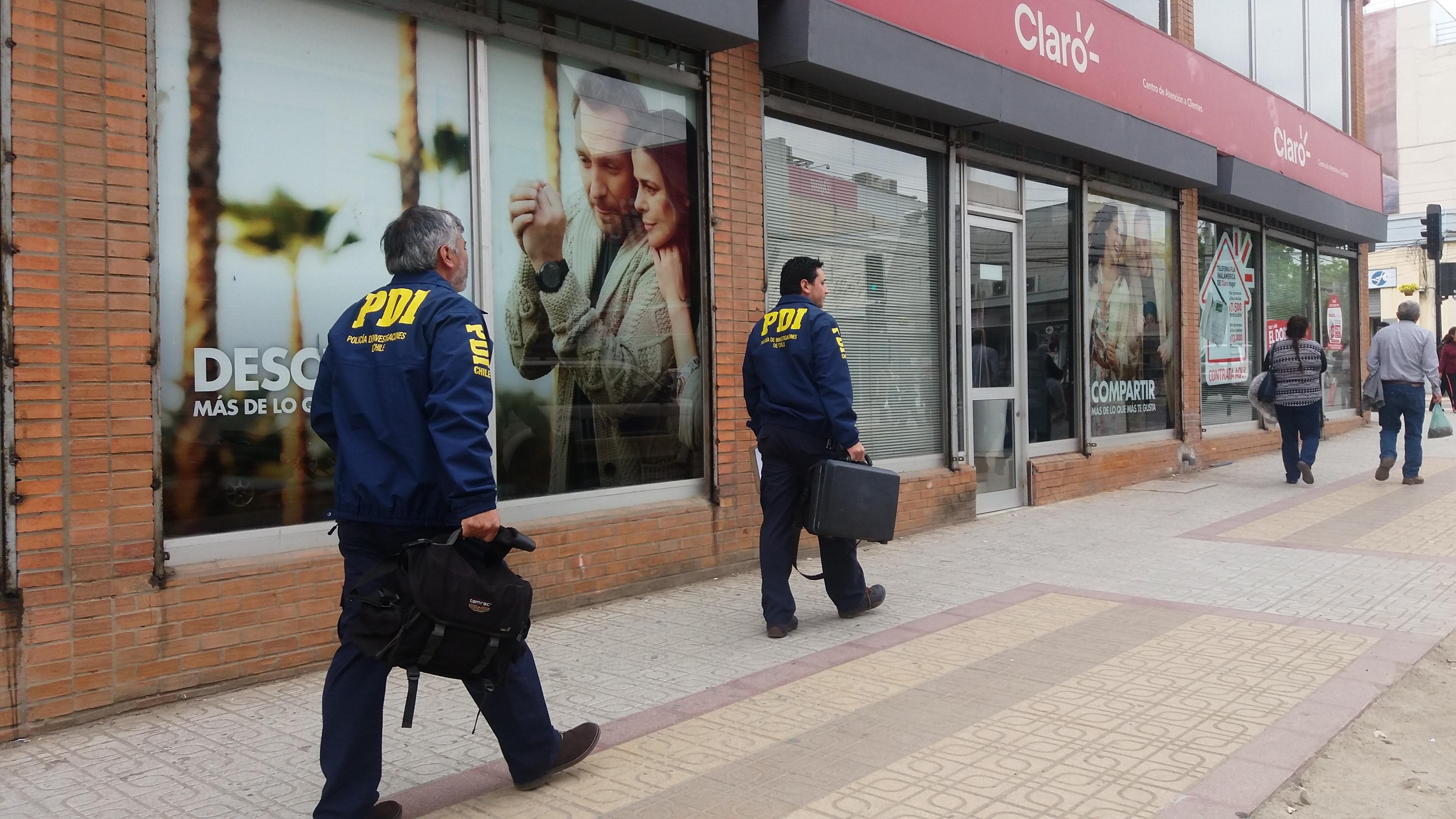 Millonario robo en teléfonos celulares afectó a la empresa Claro en el centro de Talca