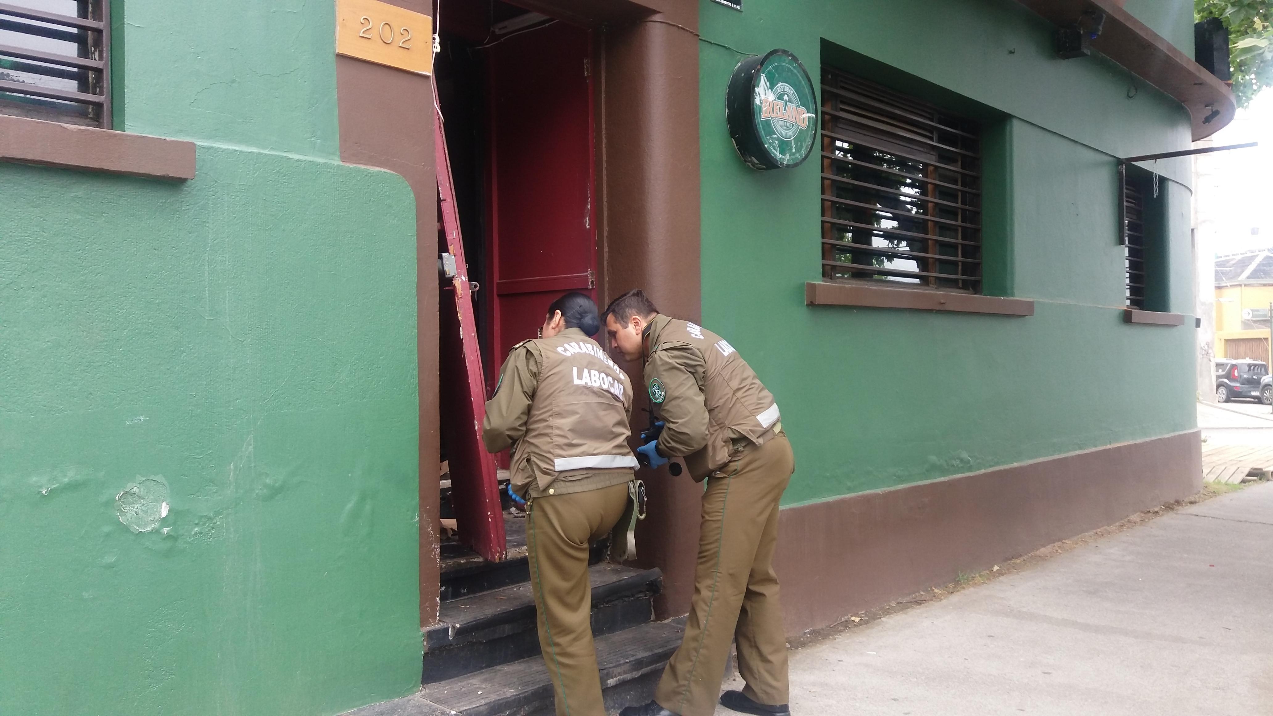 Sin aclarar robo a céntrico pub en el centro de  Talca
