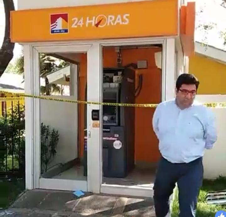 DELINCUENTES PROVOCAN GRAVES DAÑOS, EN FRUSTRADO ROBO A UN CAJERO AUTOMÁTICO EN PELARCO..