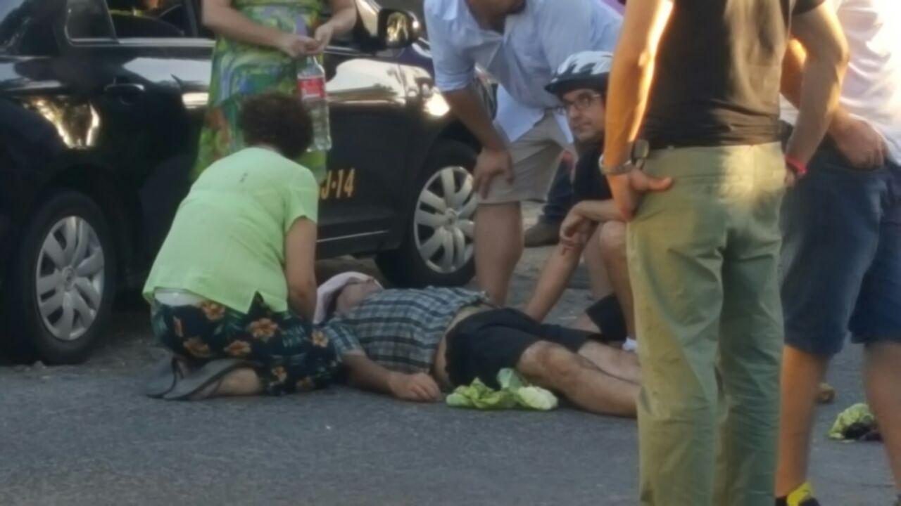 Ciclista herido tras ser colisionado por vehículo en sector poniente de Talca