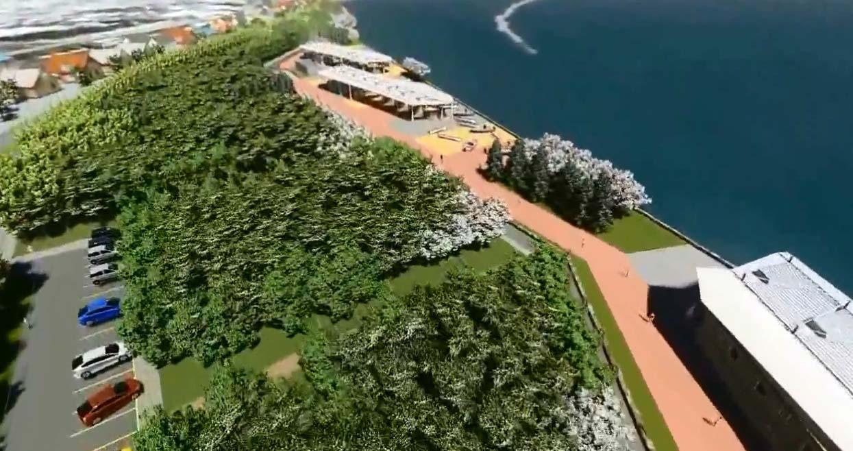 Barrera de árboles en Constitución para tsunamis