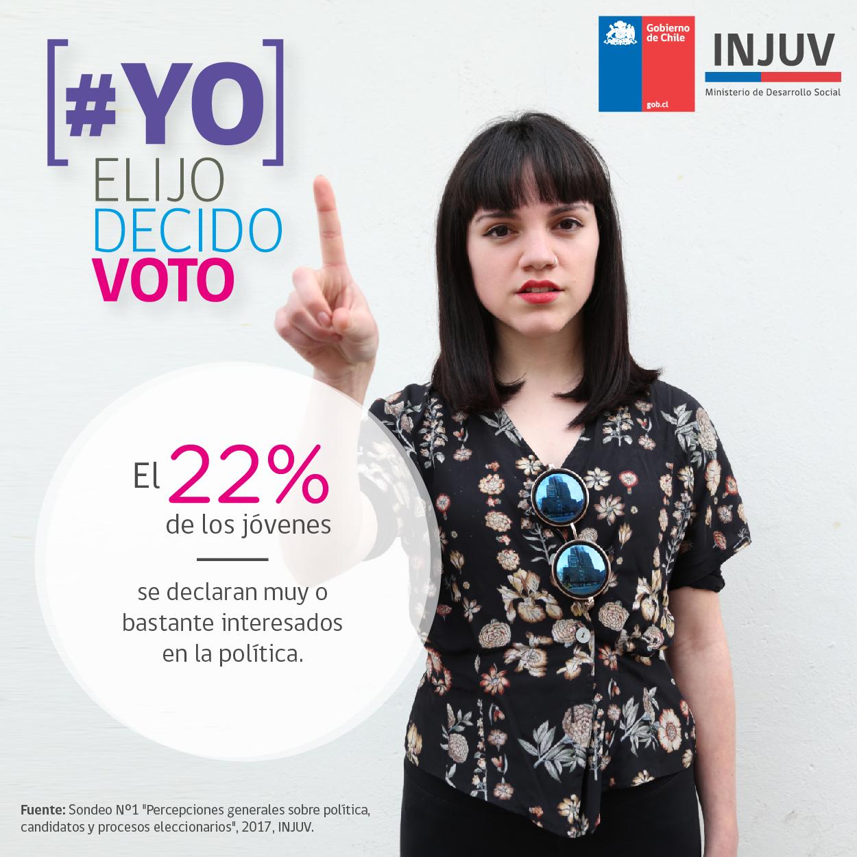 """Injuv lanzó Campaña """"Yo Elijo, Yo Decido, Yo Voto"""""""