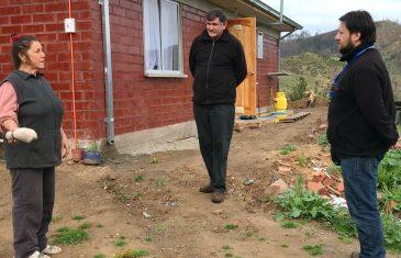 Familias afectadas por incendios forestales en provincia de Linares ya residen en sus casas