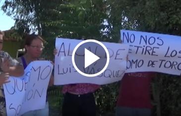 Pobladores de Maule protestan por retiro de lomos de toro en su sector