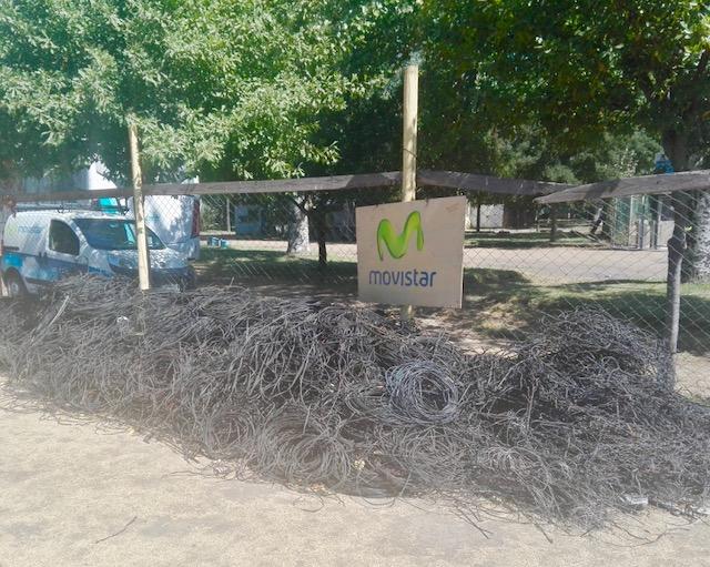Más de 9 kilos de cable en desuso se han retirado en el Maule