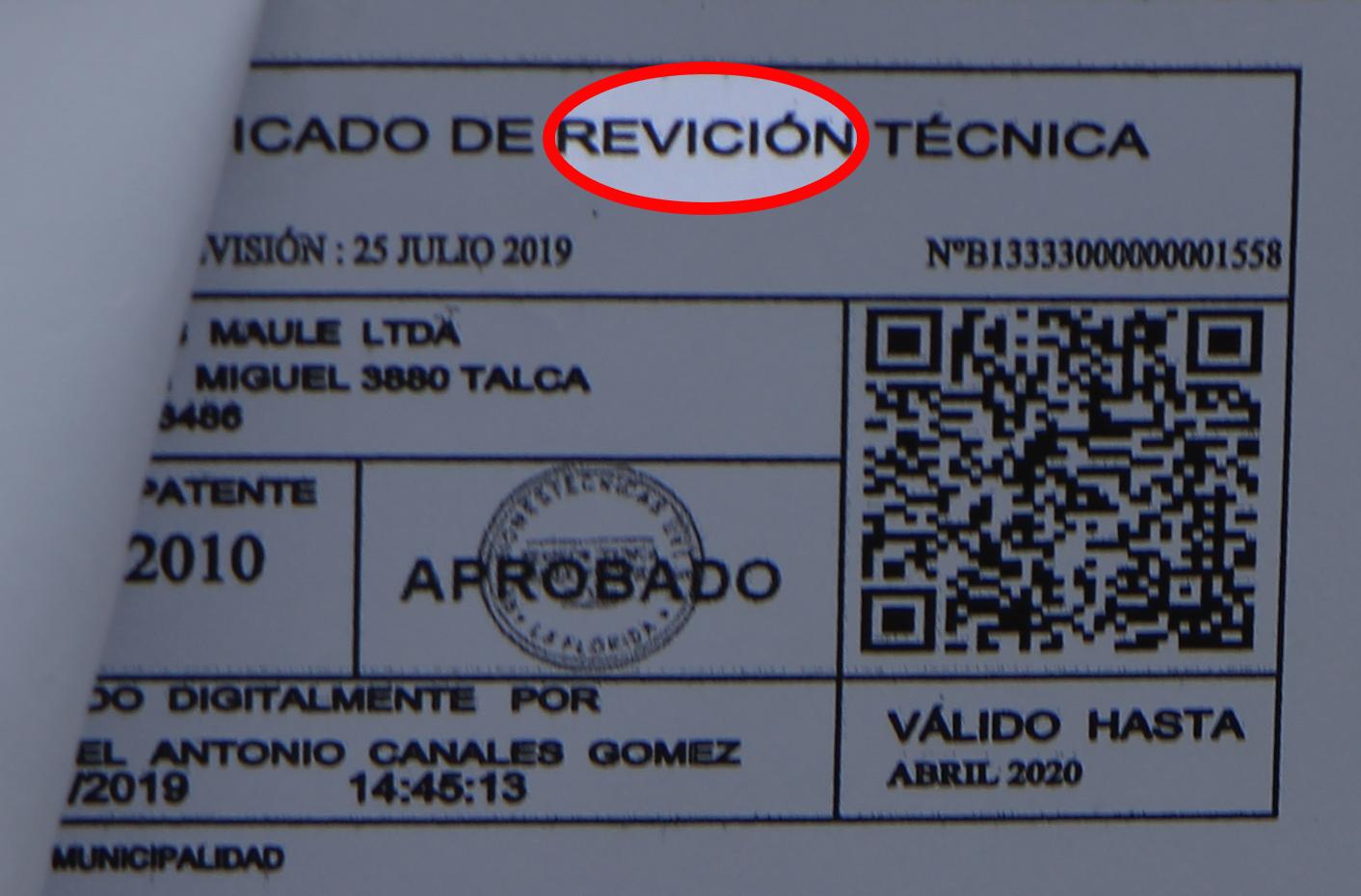 Municipio de San Javier detectó permisos de circulación falsos