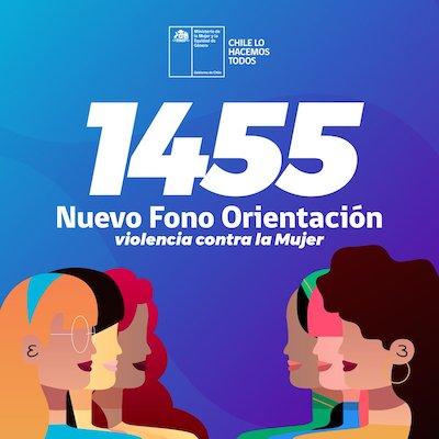 Gobierno visibiliza número 1455 para mujeres victimas de violencia