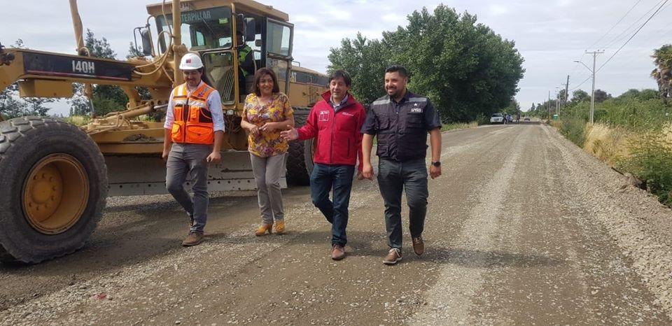 MOP mejora ruta en la localidad de Melozal en la Provincia de Linares