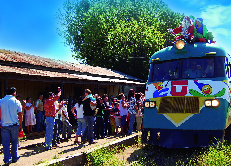 Campaña de donación de regalos para el tren de navidad