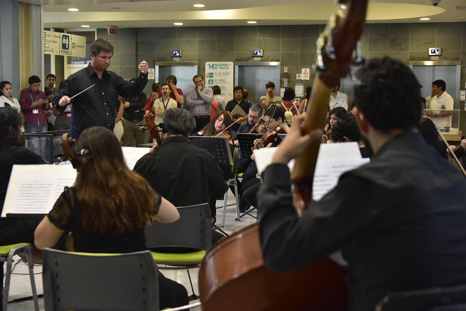 Conciertos de la Orquesta Clásica del Maule en centros de salud