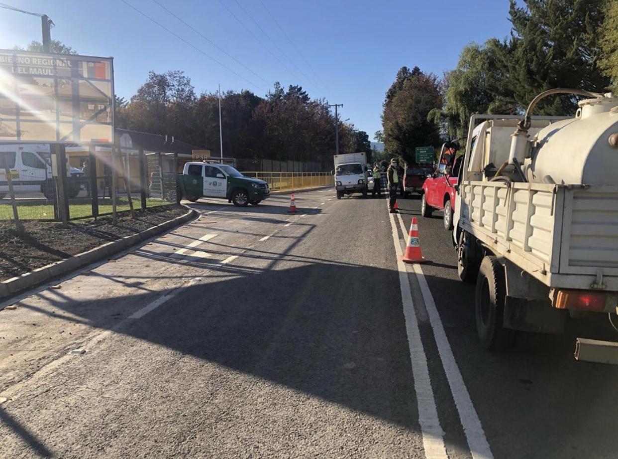 Exitosa barrera sanitaria en sector precordillerano de Parral
