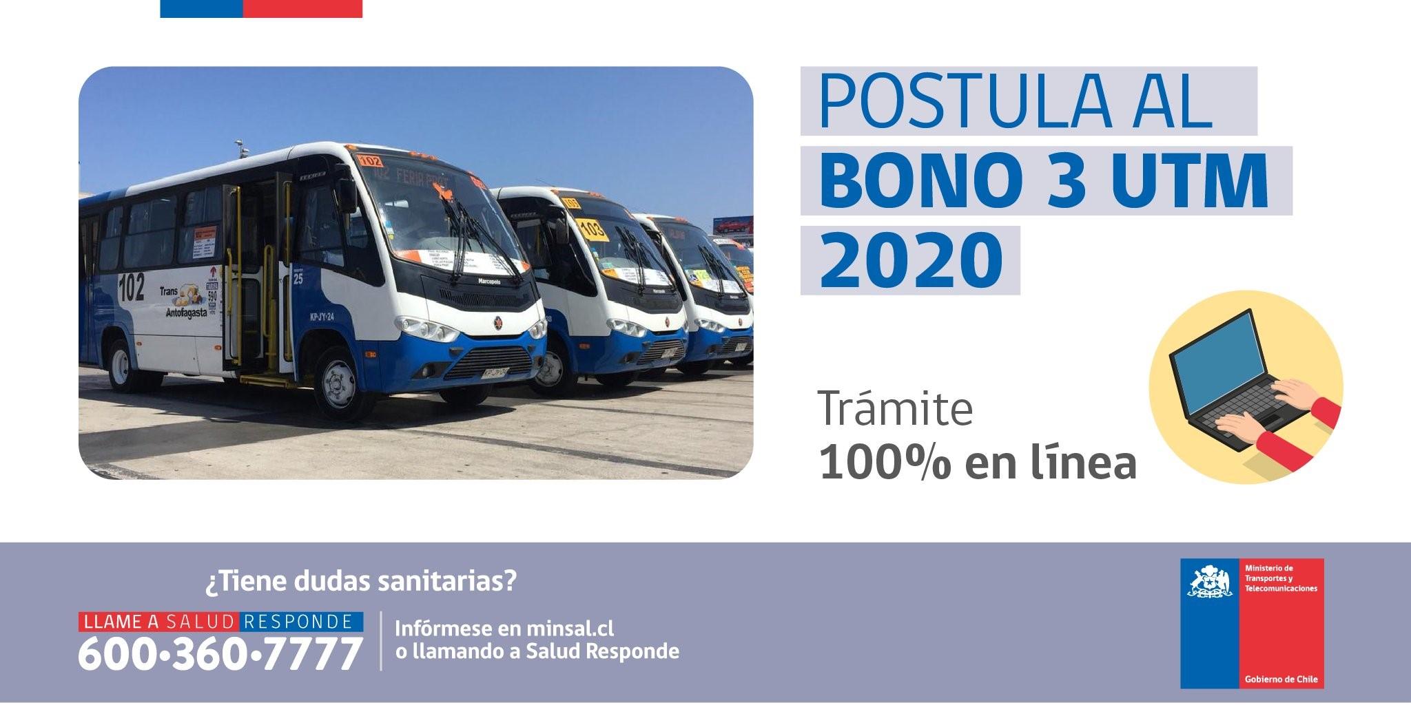 Transportistas podrán postular a beneficio anual de 3 UTM en línea