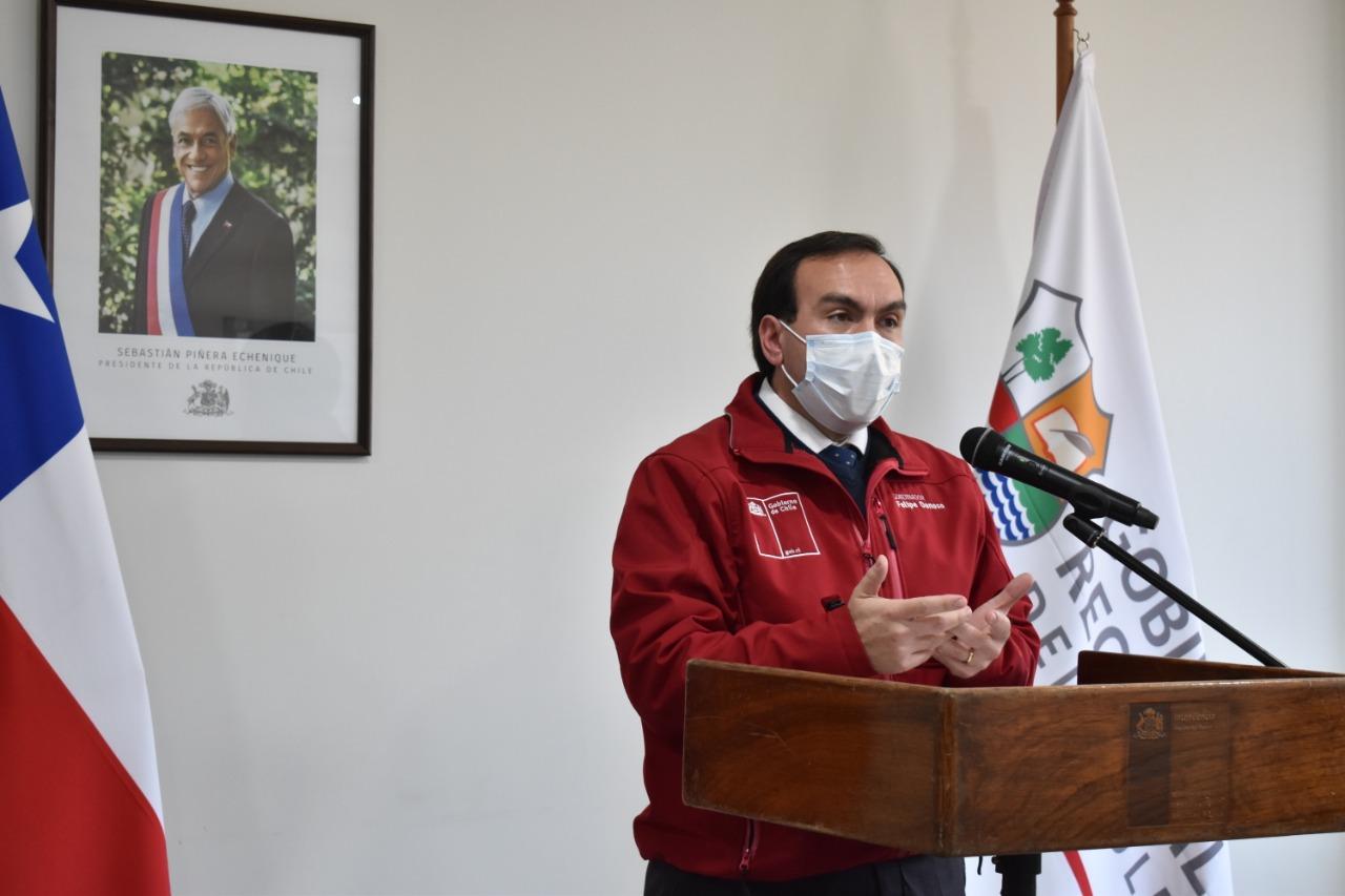 """Intendente (s), Felipe Donoso: """"llevamos un 52% de la primera etapa de entrega de cajas de alimentos"""""""