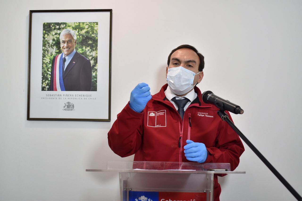 """Intendente (s) Felipe Donoso: """"queremos llamar a la población al cuidado de cada uno"""""""