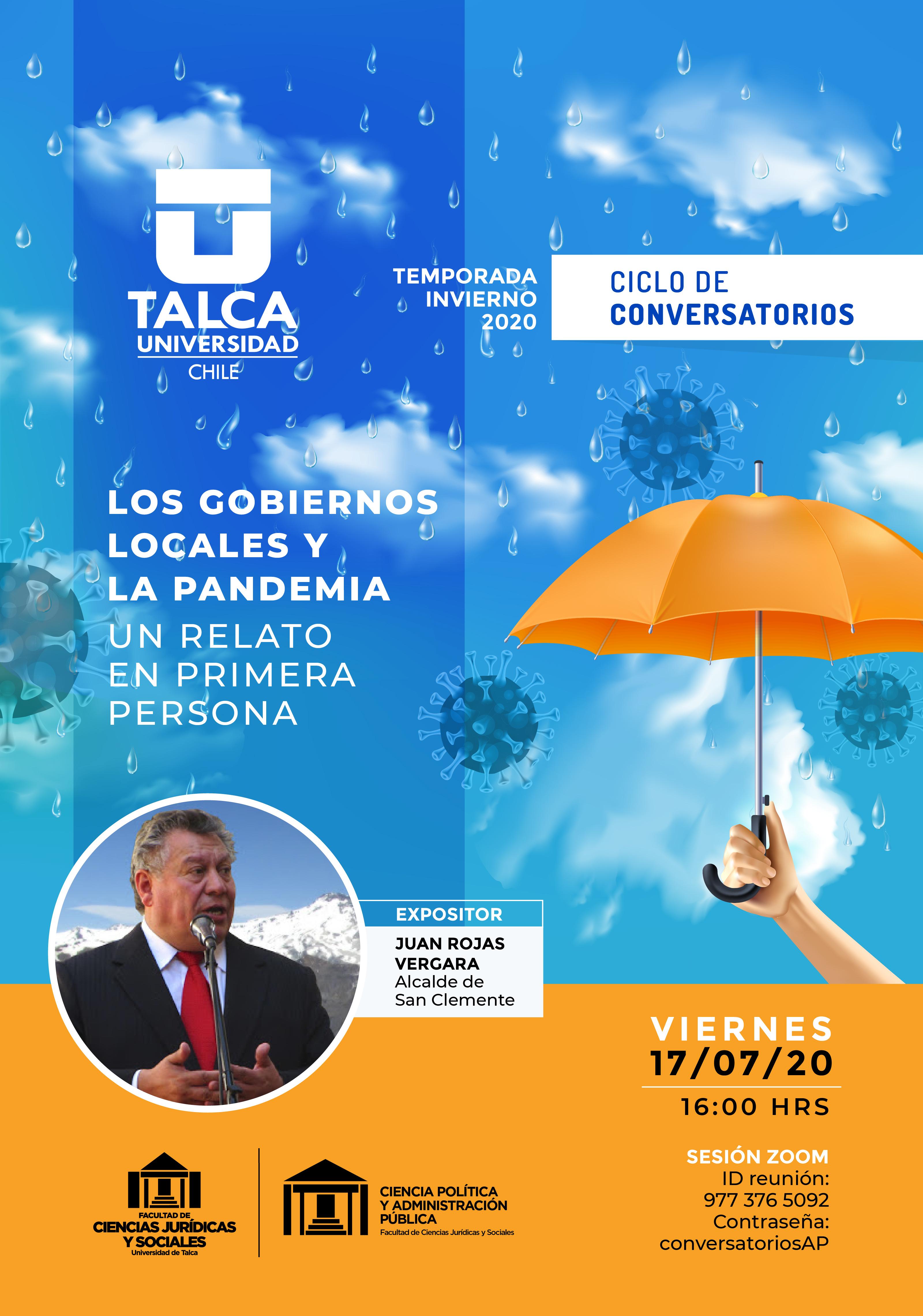 Alcalde Juan Rojas Vergara abre ciclo de conversatorios sobre la pandemia organizado por la universidad de Talca