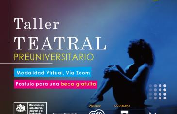 Preuniversitario Teatral gratuito y online para jóvenes maulinos