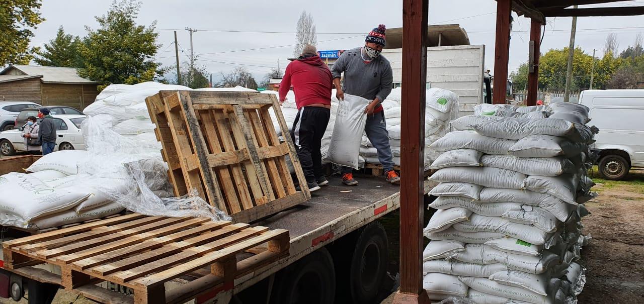 Municipio de San Clemente donó azúcar para ayudar a apicultores de la comuna