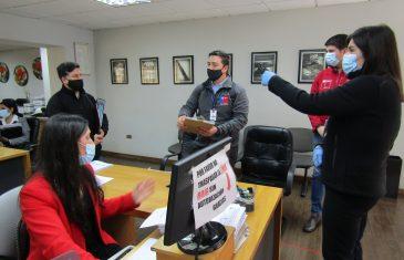 Dirección del Trabajo fiscalizó medidas contra el Covid-19 en ocho notarías de Talca y Curicó y ordenó mejorías de higiene y seguridad