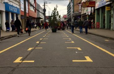 Paseo peatonal de Curicó, primera obra del plan de movilidad
