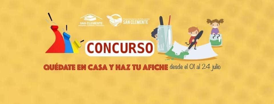 Concurso de afiches organizado por el DAEM San Clemente entra en su etapa final
