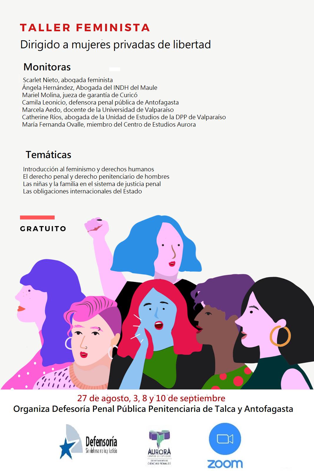 Innovador taller online para mujeres privadas de libertad abordó temáticas de feminismo y derechos humanos